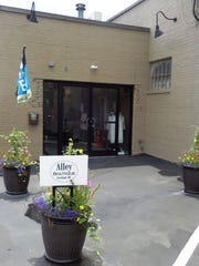 The entrance to Alley Boutique at 201 West Loveland