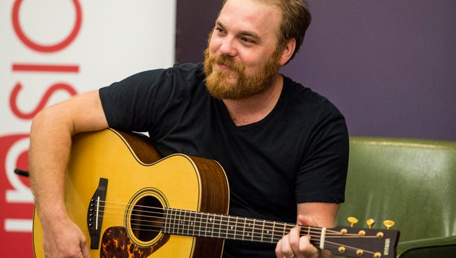 Marc Broussard performs music at the Daily Advertiser in Lafayette, La., Thursday, June 18, 2015.