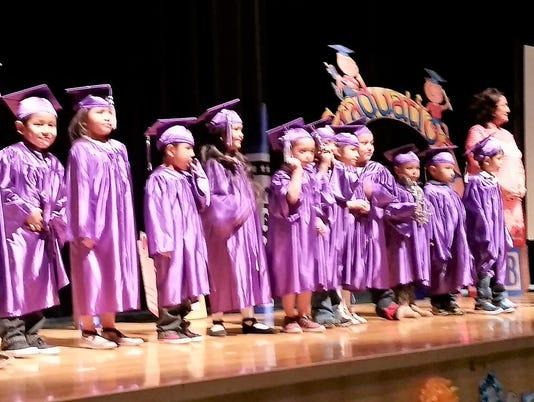 Mescalero Apache elementary graduates