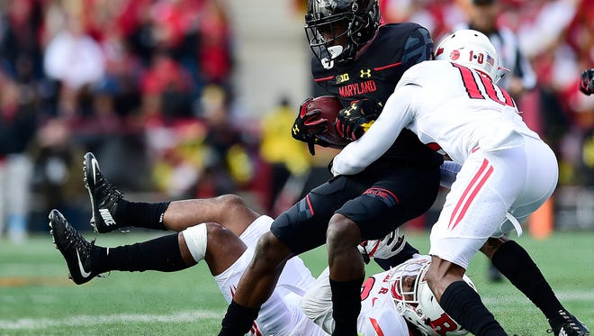 Blessuan Austin makes a tackle in the 2016 finale at Maryland