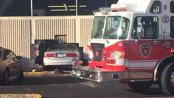A vehicle crashed into Kmart on Thursday afternoon.