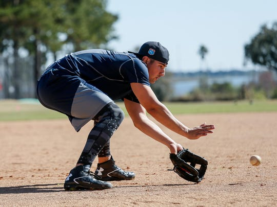 "Tigers third baseman Nick Castellanos looks leaner and more athletic. ""He's moving really good,"" first-base coach Omar Vizquel said."