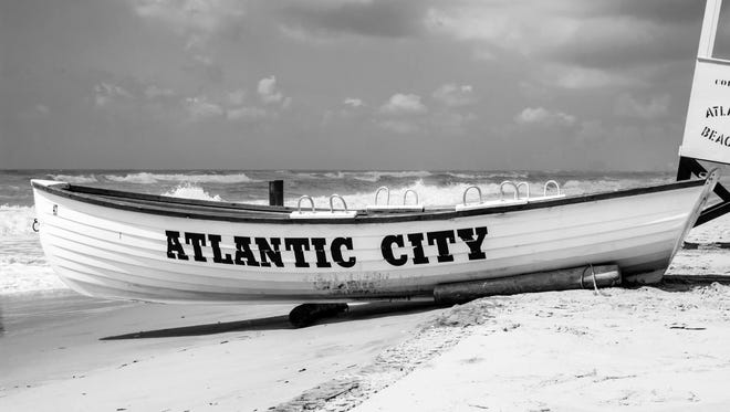 Here is an example of a new piece of art that will be displayed at a Super 8 property. This one is for Atlantic City.