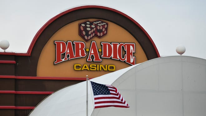 Built in 1991, the Par-A-Dice Casino and Hotel sits on the banks of the Illinois River in East Peoria.