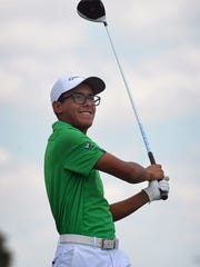Robert Garcia Jr was pleased with his tee shot during