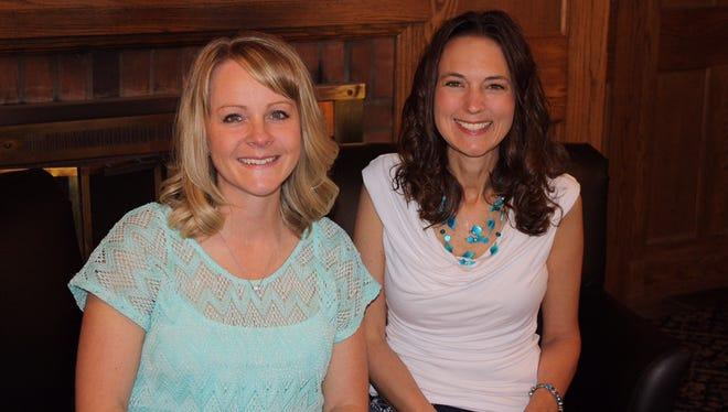 Kristi Vander Veen, left, and Cathy Nielson.