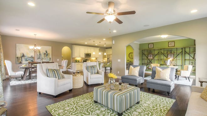 The interiors of homes built by Goodall Homes have open floor plans.