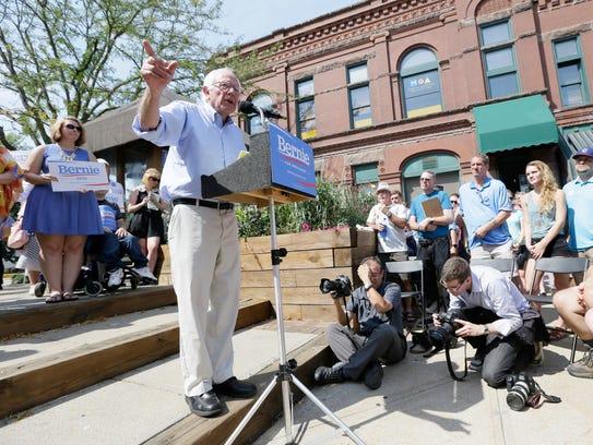 Sen. Bernie Sanders, I-Vt., speaks during the opening