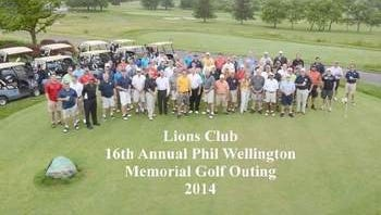 The Memorial Golf outing gathers for a picture before tee time