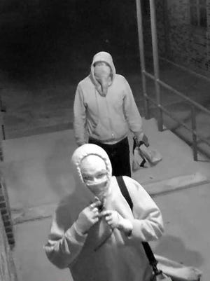 Suspected burglars seem unconcerned about surveillance cameras as they broke into the Saint Jo School Feb, 2. They stole electronics and did extensive vandalism.  Anyone who knows who they are is urged to contact the Montague County Sheriff's Office.