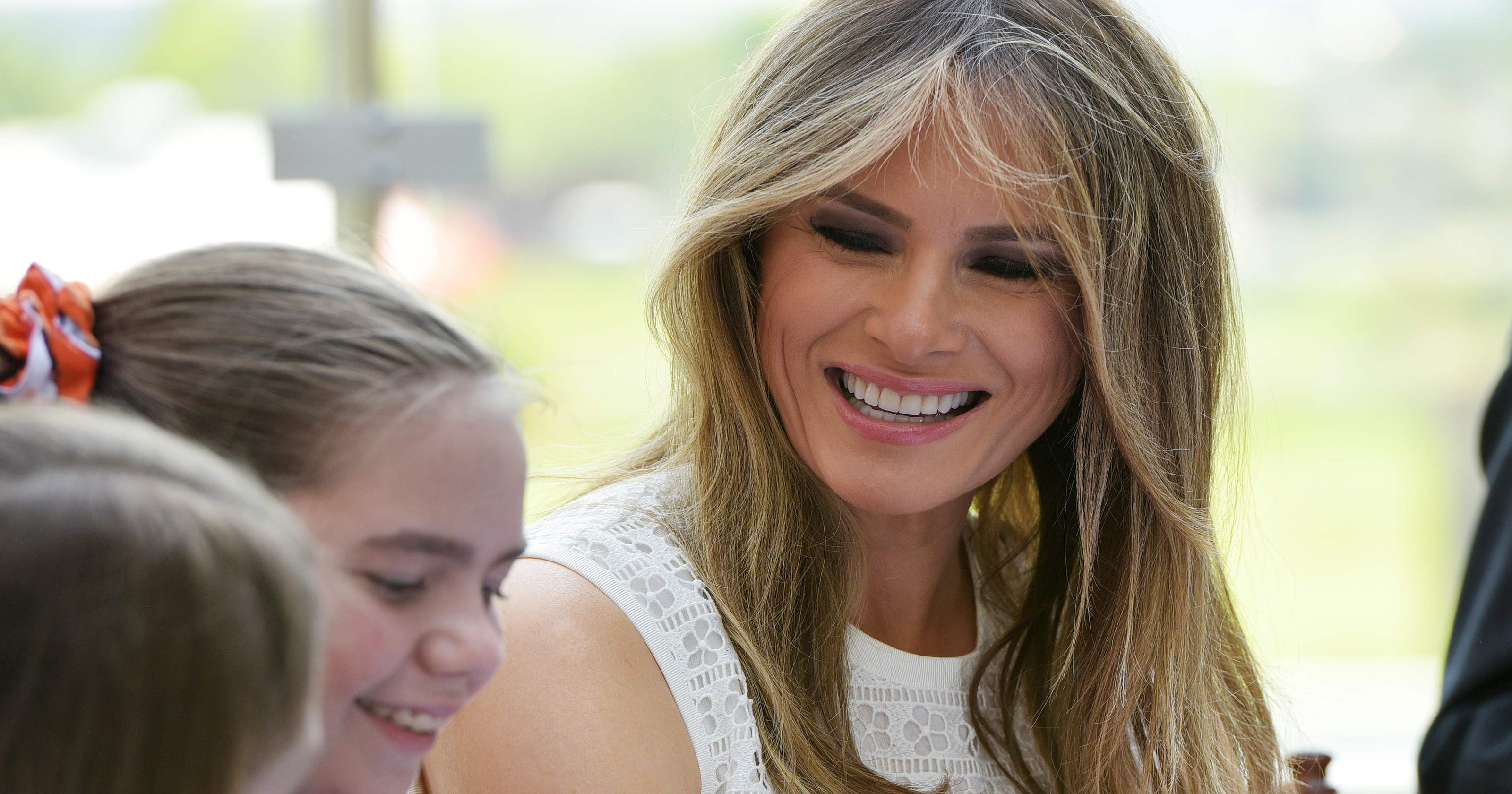 Melania Trump dedicates \'healing\' garden at D.C. children\'s hospital