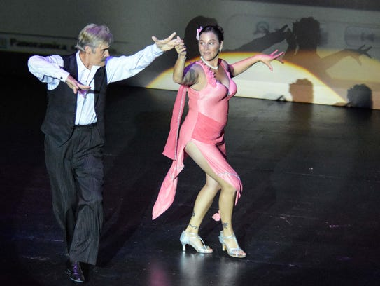 Professional dancer Manolo Soler and Annette Strothers