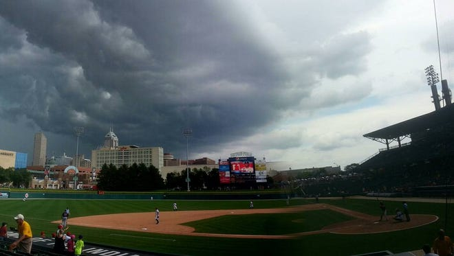 David De Reu was at the Indians game when the storm rolled in and he snapped this.