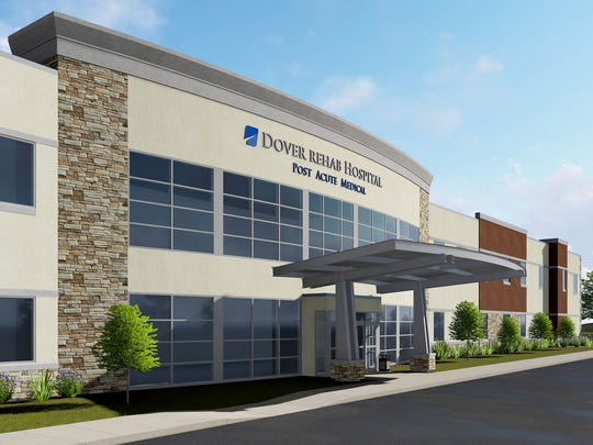 Artist rendering of the Post Acute Medical Rehabilitation Hospital of Dover, a 34-bed facility set to open in December.