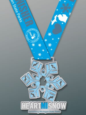 Here's the medal participants get for completing the 5K.