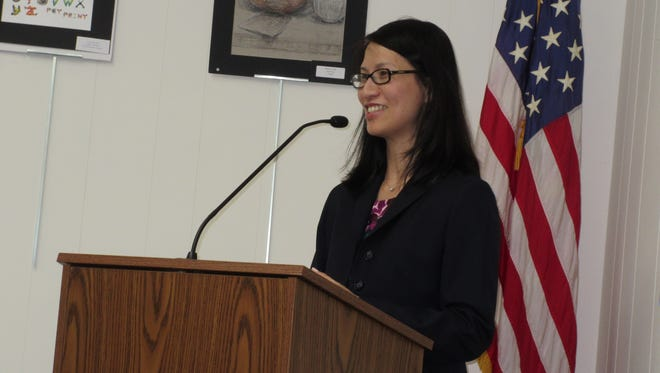 "Susie Hung, Ed.D, the newly appointed principal of Jefferson Elementary School in Westfield and former teacher in the district, addressed the Board of Education on May 23,  remarking that ""coming home is a really wonderful feeling for me."""
