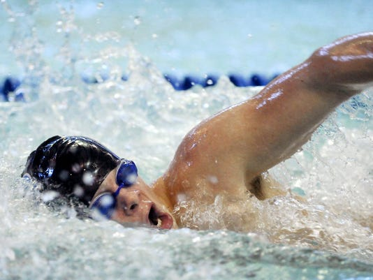 Dallastown's Corey Stauffer has his name listed several times on the 2013 YAIAA top swim times list.