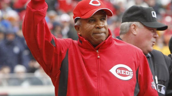 Former Reds great and Hall of Fame member Frank Robinson served as honorary captain of the Reds on this day.