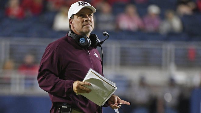 Texas A&M coach Jimbo Fisher and his squad won't play a scheduled game with Mississippi on Saturday because of COVID-19 issues within the Aggies' program.