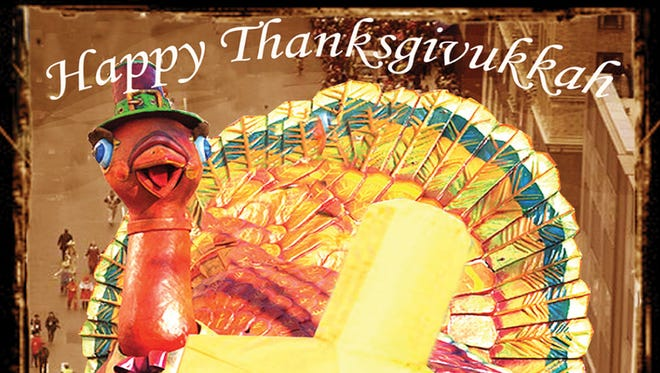 A ModernTribe.com holiday card honors the Jewish-secular holiday mash-up that is Thanksgivukkah.