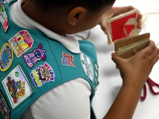 A member of the Girl Scouts of Central Maryland participates