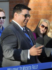 City of Wichita Falls Mayor Stephen Santellana spoke