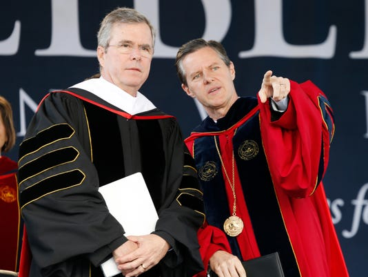 Jeb Bush, Jerry Falwell Jr.