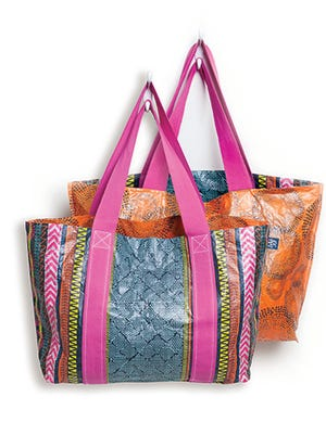 Reusable totes from MIXT Studio.