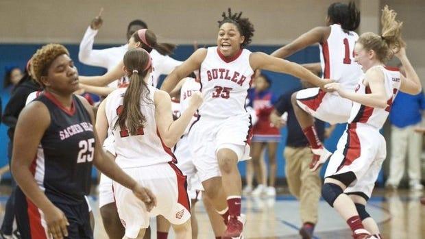 Butler girls winning the LIT.