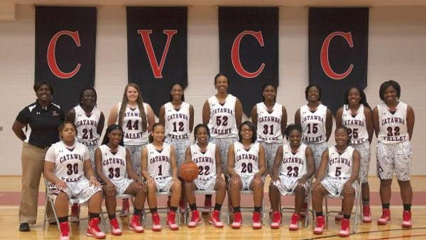 Erwin graduate Shakira Allen (31) is a sophomore for the Catawba Valley Community College women's basketball team.