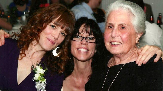 Jacquelyn McGee, lifelong educator and first principal of the new Austin High School, died on June 2 in an Austin care home. Here she is seen with grand-niece Ann Gourley Desloge and niece Susan Caldwell.