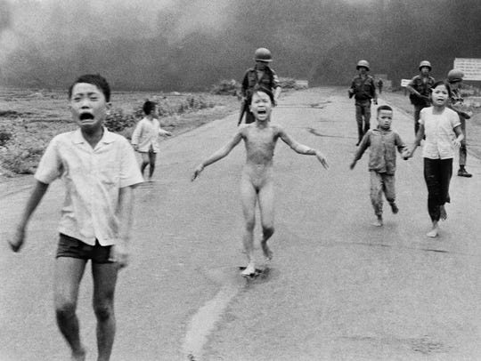 "Nick Ut's Vietnam War image, informally known as ""Napalm"