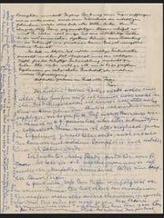 A letter written by legendary physicist Albert Einstein