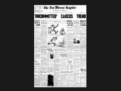 Iowa Caucus front pages 1972-2016