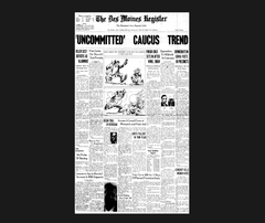From the archives: Iowa Caucus front pages from 1972 to 2016