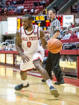 Francis Kiapway is shooting 47 percent from 3-point range this season. He's been a big part of the Cardinals' improved offense.
