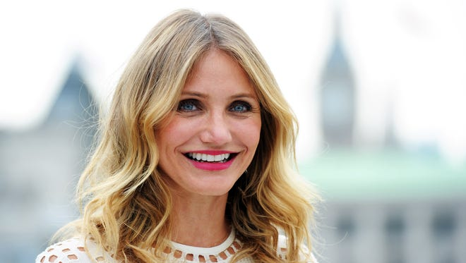 Happy birthday, Cameron Diaz! USA TODAY celebrates her 45th birthday on Aug. 30, 2017 with 45 images from her life and career.  Seen here, Diaz attends a photocall for the movie 'Sex Tape' on Sept. 3, 2014, in London.