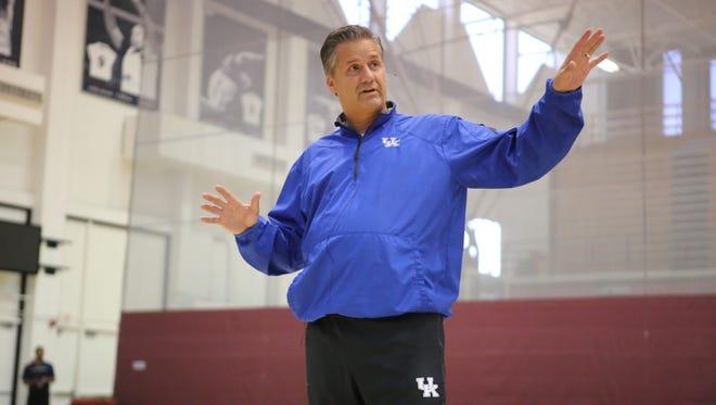 John Calipari addresses coaches at the Coaching Success Academy at Loyola Marymount University on Sunday.