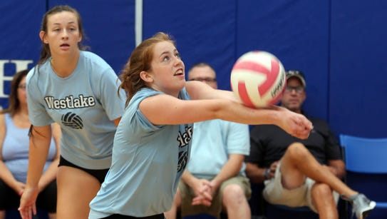 Caleigh Carr with the Westlake High School Volleyball