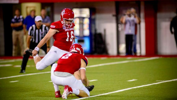 Miles Bergner is perfect on field goals this season for the Coyotes.