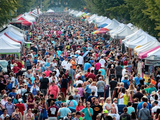 The Cooper Young Festival in Memphis draws thousands each year to the streets of Midtown.