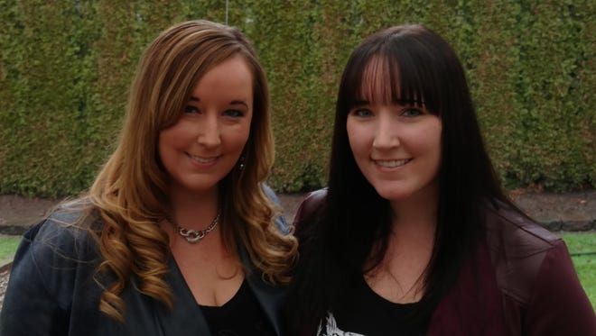Amanda Phillips Atkins, left, and sister Sabryna Phillips both work as executives in the entertainment industry in the Los Angeles area. They grew up in Salem and graduated from McKay High School.