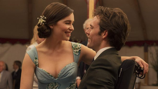 """Emilia Clarke and Sam Claflin in """"Me Before You."""" The movie is playing at Regal West Manchester Stadium 13, Frank Theatres Queensgate Stadium 13 and R/C Hanover Movies."""