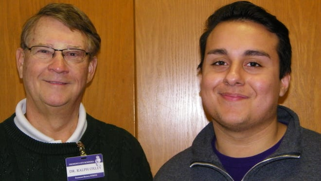 Dr. Ralph Oxley has been mentoring Ross High School senior Sam Contreras this year through the Rotary club's STRIVE program. Contreras said the program helped him increase his attendance and his grades.
