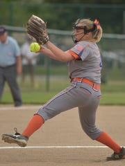Garden City pitcher April Rudolph (4).