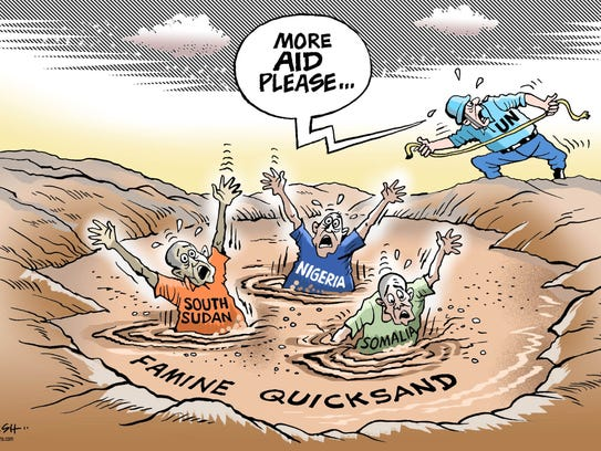 Paresh Nath, The Khaleej Times, UAE, drew this editorial