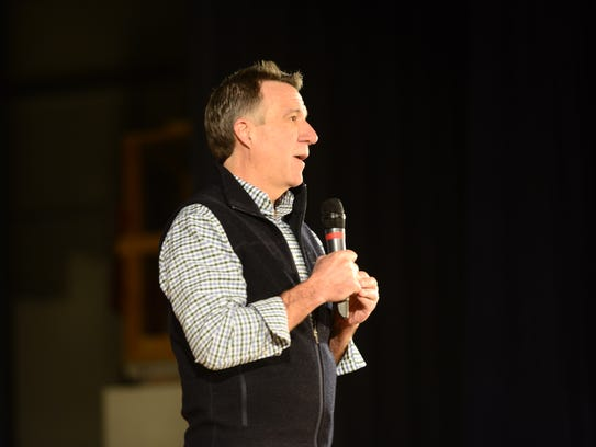 Vermont Lt. Gov. Phil Scott, a Republican, speaks at