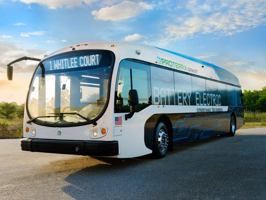 A artists rendition of a battery-powered bus. Delaware's