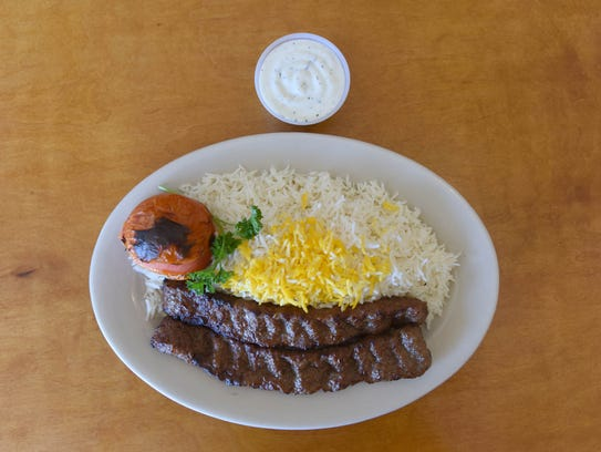 Kubideh kebab, a traditional Persian New Year dish.