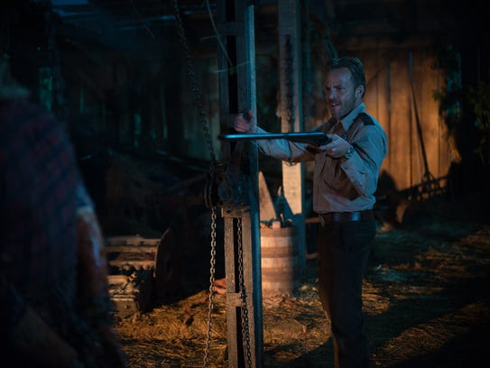 """Stephen Dorff plays a Texas Ranger in """"Leatherface."""""""